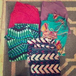 Lot of 5 pairs LulaRoe leggings